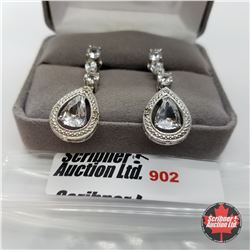 Earrings - Simulated Diamond - Sterling Silver