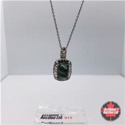 Necklace - Seraphinite Emerald - Sterling Silver