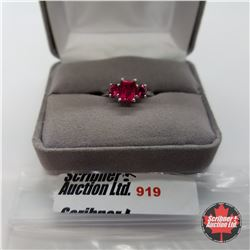 Ring - Size 8: Ruby (Lab) - Sterling Silver