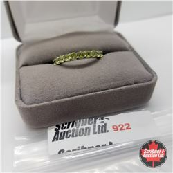 Ring - Size 8: Peridot Eternity Band - Sterling Silver