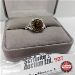 Ring - Size 8: Cognac Quartz Stainless