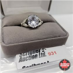 Ring - Size 8: Simulated Diamond Stainless