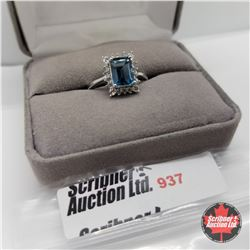 Ring - Size 8: London Blue Topaz - Sterling Silver