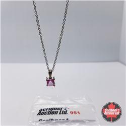 "Necklace - Pink Mystic Topaz (18"") - Sterling Silver"