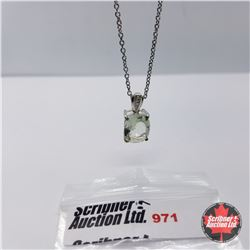"""Necklace - Green Amethyst (20"""") - Sterling Silver"""