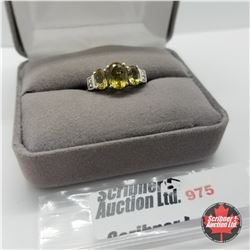 Ring - Size 8: Alexite - Sterling Silver
