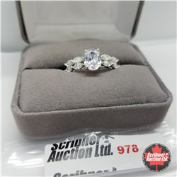 Ring - Size 8: Simulated Diamond - Sterling Silver
