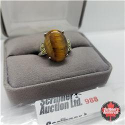 Ring - Size 8: Tiger Eye Stainless