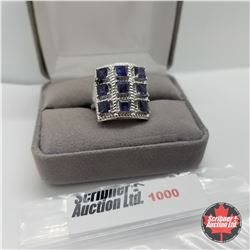 Ring - Size 7: Iolite Platinum Bond Overlay