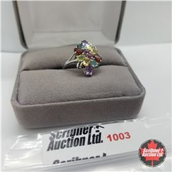 Ring - Size 7:Multi Colour Sapphire - Sterling Silver