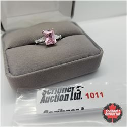 Ring - Size 7: Simulated Pink Diamond - Sterling Silver