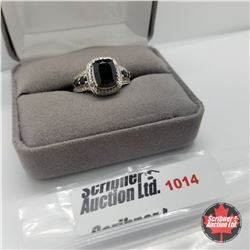Ring - Size 7: Black Spinel - Sterling Silver