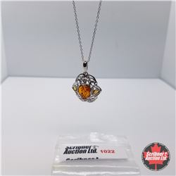 "Necklace - Baltic Amber (18"") - Sterling Silver"