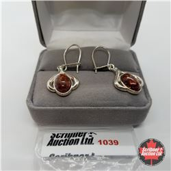 Earrings - Baltic Amber - Sterling Silver