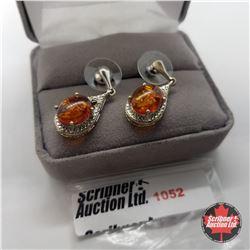Earrings - Baltic Amber - Sterling Silver