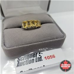 Ring - Size 7: Citrine Platinum Overlay