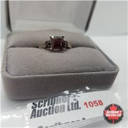 Ring - Size 7: Garnet - Sterling Silver