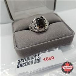 Ring - Size 7: Smokey Quartz - Stainless