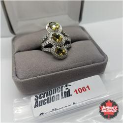 Ring - Size 7: Alexite - Platinum Bond Overlay