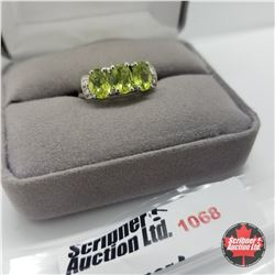Ring - Size 7: Peridot - Sterling Silver