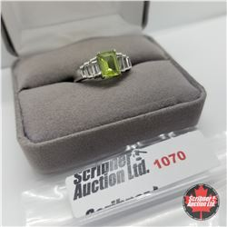 Ring - Size 7: Peridot & White Topaz - Sterling Silver