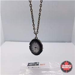 """Pendant Watch - Rose Carving (32"""") Costume"""
