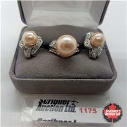 Set - Pink Pearl Size 7 Stainless