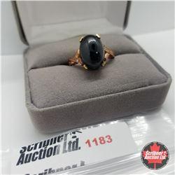 Ring - Size 8: Black Spinel Rose Gold