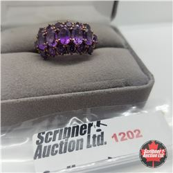 Ring - Size 8: Amethyst Rose Gold Overlay