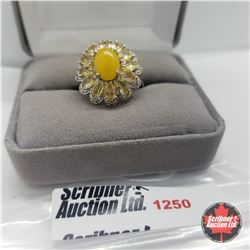 Ring - Size 8: Jade Citrine - Sterling Silver