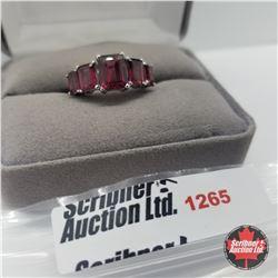 Ring - Size 8: Garnet - Sterling Silver