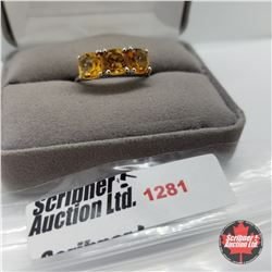 Ring - Size 8: Citrine - Sterling Silver