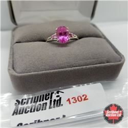 Ring - Size 8: Pink Lab Sapphire - Sterling Silver