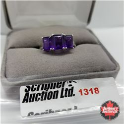 Ring - Size 9: Amethyst - Sterling Silver