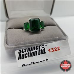 Ring - Size 9: Sim Emerald - Sterling Silver