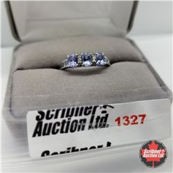Ring - Size 9: Tanzanite - Sterling Silver - Platinum Bond Overlay
