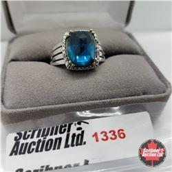 Ring - Size 9: Titanium Quartz - Sterling Silver - Stainless