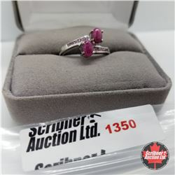 Ring - Size 9: Ruby Lab Pink Sapphire (Platinum Overlay)