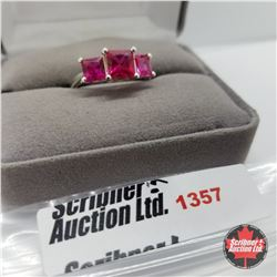Ring - Size 9: Lab Ruby - Sterling Silver