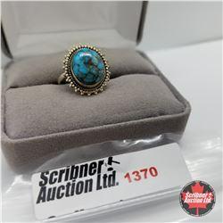 Ring - Size 7: Artisan Blue Turquoise - Silver