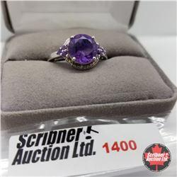Ring - Size 10: Lavender Alexite (Platinum Overlay)