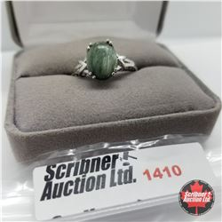 Ring - Size 10; Seraphinite (Platinum Overlay)