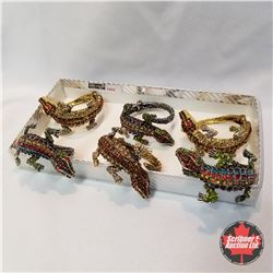 Jewellery Grouping (Including Austrian Crystal)  : Crocodile Bangles (6) Multi Color