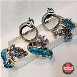 Jewellery Grouping (Including Austrian Crystal)  : Squirrel Bangles (5)