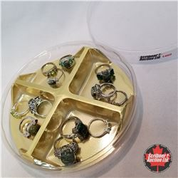Jewellery Grouping: 12 Rings (Asst Size)