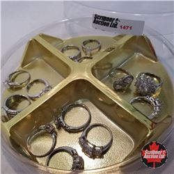 Jewellery Grouping: 13 Rings (Asst Size)