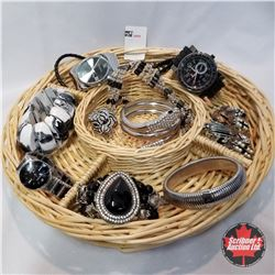 Jewellery Grouping: 7 Bracelets; 1 Ring (Size 7); 3 Watches; 1 Necklace