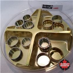 Jewellery Grouping: 12 Manly Rings (Asst Size) Stainless Steel