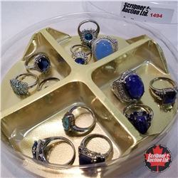 Jewellery Grouping: 12 Blue Theme (Asst Size)