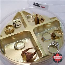 Jewellery Grouping: 10 Rings Yellow Theme (Asst Size)